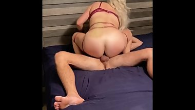 Big ass MILF rough riding