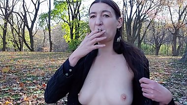 INHALE 51 Smoking and risky public nudity in Montreal by Gypsy Dolores