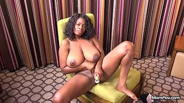 MomPOV - Tyra (47 year old black MILF will all natural tits like it deep)