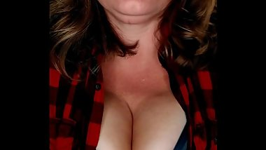 Feeling too Hot in my Husbands Flannel.