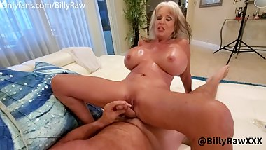 Milf With Huge Tits Jerks Off and Titty Fucks Young Stud With Big Cock-Sally D'Angelo