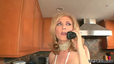 Nina Hartley, hot milf fucked by black guy escaped from prison