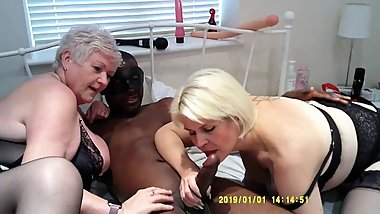 Mature BBC Threesome with Skyler, UKJoolz and Lexus (No Action Sound - Music Added)